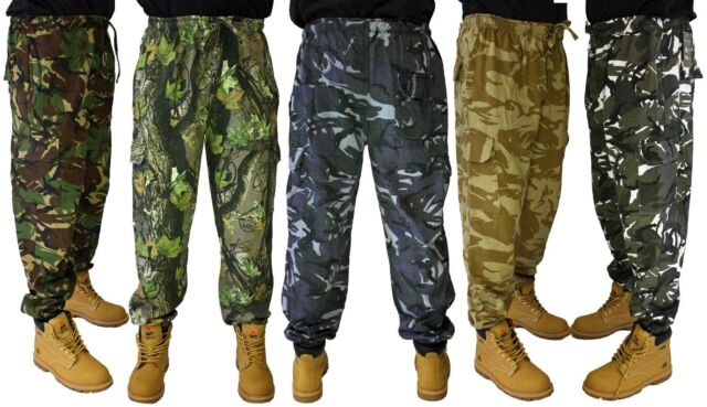 Game Mens Camouflage Jogging Bottom Army Camo Joggers Trousers Military Hunting