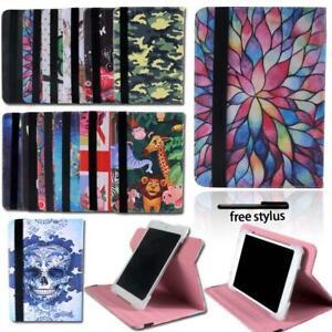 Per-7-034-8-034-10-034-HP-Tablet-Folio-in-Pelle-360-Rotazione-Supporto-Custodia-Stylus