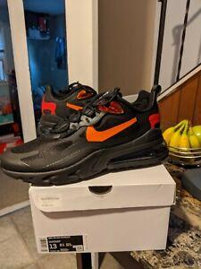 air max 270 react black and orange