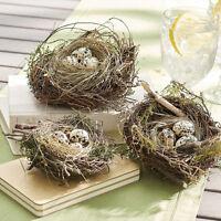 Grandin Road Set Of 3 Natural Looking Bird's Nest-spring & Christmas Decorating