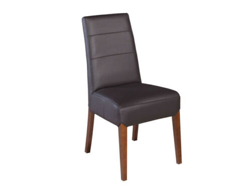 Set 6x Leather Solid Wood Chair Dining Chair Designer Chairs Dining Chairs New