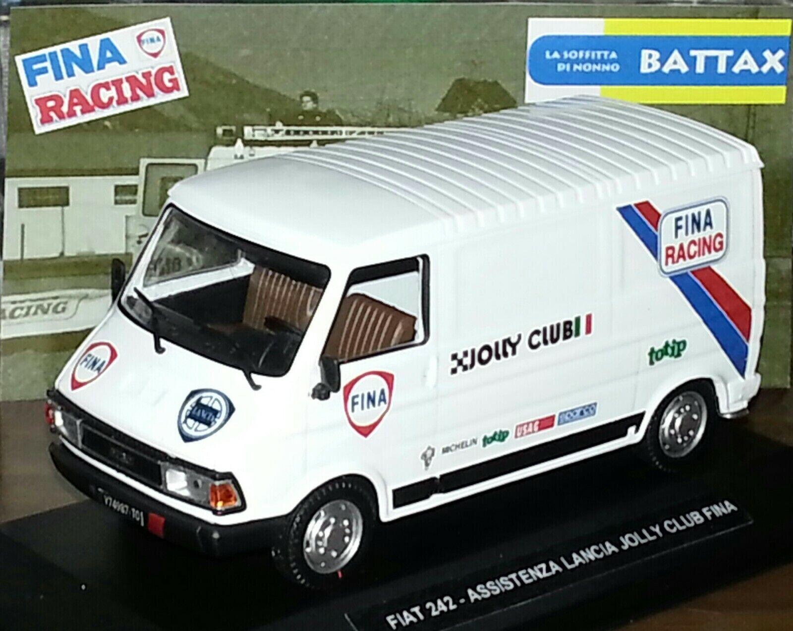1 43 FIAT 242 ASSISTENZA LANCIA FINA RACING RALLY DIORAMA CODE3 MIB