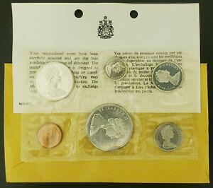 1965-CANADA-SILVER-PROOF-LIKE-MINT-SET-PL-WITH-ORIGINAL-COA-ENVELOPE-MINT