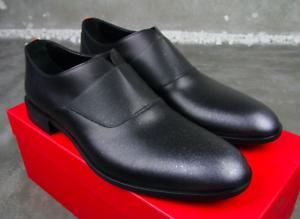Hugo Boss cuero auténtico zapatillas grafity ston Spel 44 nuevo zapatos derby smoking 10 11
