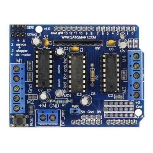 P1 Erweiterungskarte L293D Motorantrieb Schild fuer Arduino blau Y3K9