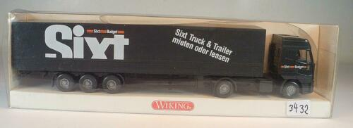 Wiking 1//87 nº 516 02 36 Iveco eurostar remolcarse camastro//lona Sixt OVP #3431