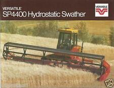 Farm Equipment Brochure - Versatile - SP4400 - Hydrostatic Swather 1982 (F3614)