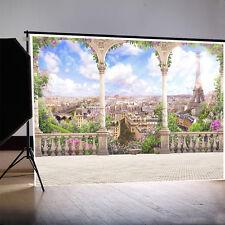 Romantic Palace In Paris Photography Backgrounds 8x6.5ft Vinyl Photo Backdrops