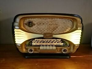Ancien-Poste-Radio-TSF-OCEANIC-Surcouf-Tube-Vintage-Old-Radio-Design