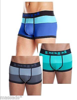 """PAPI Men's Underwear Low Rise Brazilian Trunks """"Waves Color Block"""" S,M,L,XL -NEW"""