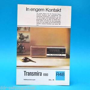 Transmira-6100-Volltransistorsuper-1971-Folleto-Publicidad-Dewag-Hoja-de-Anuncio
