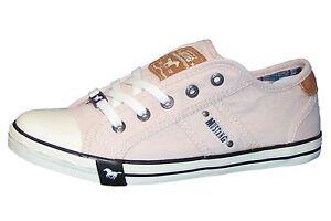 Details zu MUSTANG Damen Sneaker Rose Rosa Halbschuhe Schuhe Canvas Slipper 1099 302 2