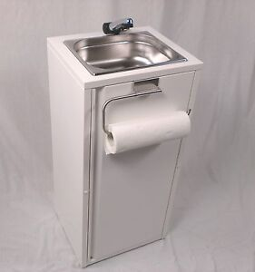 Mobiles Handwaschbecken  Warmwasser Kaltwasser Waschbecken Rollenhalt  Lmhv Neu