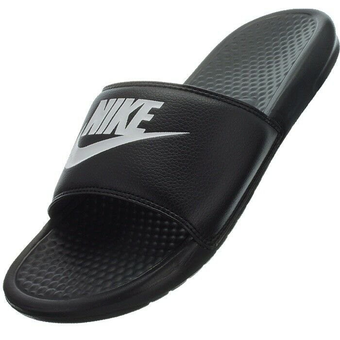 Nike Benassi JDI Men's black white Bathing Shower Sandals Beach shoes Sliders