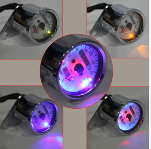 Motorcycle-Dual-Odometer-Speedometer-km-h-Gauge-Stainless-steel-LED-Backlight
