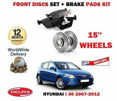 Für Hyundai I 30 I30 2007-2012 Neu Vorder 15'' Bremsscheiben Transport