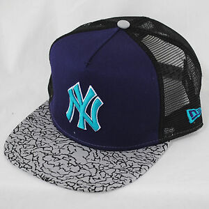 898dd7bed9f Details about New Era 9fifty NY Yankees Elephant Hook A-Frame MLB Strapback Trucker  Hat Cap