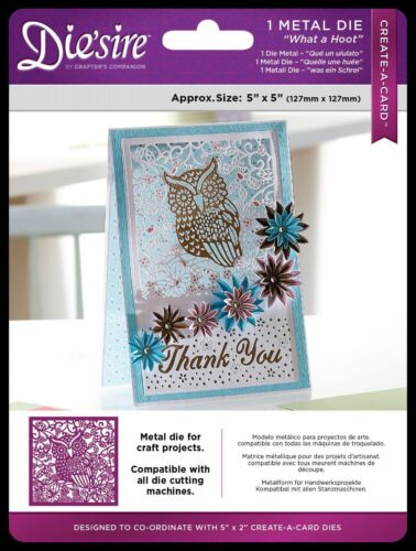 Die/'sire /'Create-a-Card/' What A Hoot Metal Die by Crafter/'s Companion