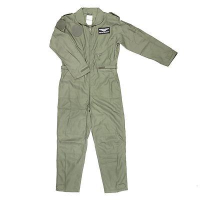 VAN OS KIDS FLIGHT SUIT FOSTEX CHILDRENS US AIRFORCE PILOT AVIATORS FANCY DRESS