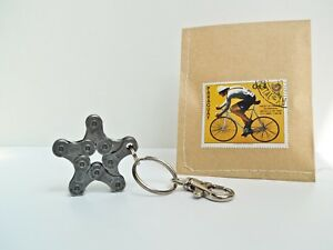 Fahrrad Schlüsselanhän<wbr/>ger Stern Love / Radsport Geschenk / Upcycling