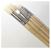 Artist's Professional Long Handled Paint Brushes With Wooden Palette