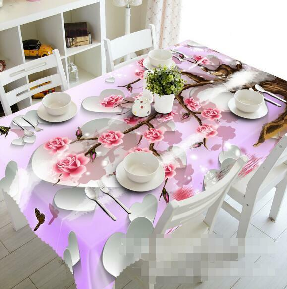 3D rose rose 9 Tablecloth Table Cover Cloth Birthday Party Event AJ WALLPAPER AU