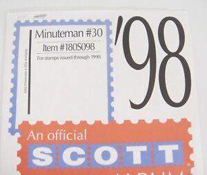 Details about Scott Minuteman #30 1998 Stamp Album Supplement Item No  180S098 New