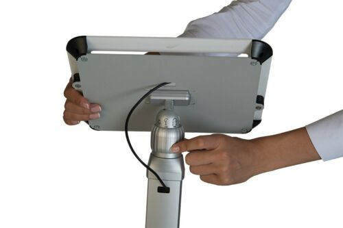 M/&T Displays Stand 2 Fixed Height with White Aluminum Top Cover 3 /& 4 iPad
