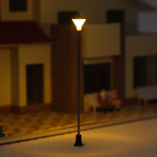 Modellbahn 00 h0 TT Spur Laternenpfahl 7cm Straßenlaternen LEDs LCX05 10-20Stk