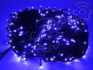 Serie-catena-200-luci-a-led-di-Natale-blu-16-mt-con-8-giochi-per-interno-esterno