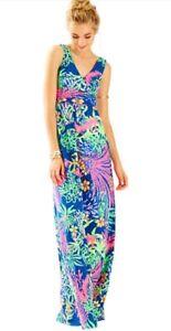 Lilly Pulitzer Sloane Maxi Dress All A Glow Nwt Ebay