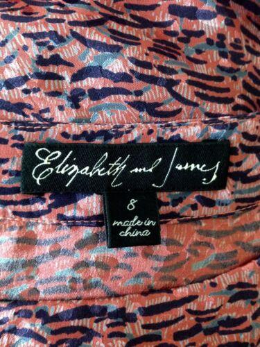 £ 8 Us Silk fredda Uk e stampa Dress James 12 spalla 350 Rrp Elizabeth 7xwq64ZUa