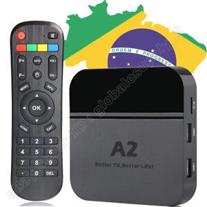 Details about 2019 Newest 4K A2 TV Box IPTV 6 Brazil Live TV & adult app 4K  3D Bluetooth