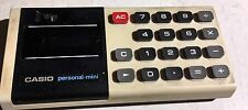 "Vnt Casio ""Personal Mini"" Calculator FLUORESCENT Screen w Small number WORKS!"