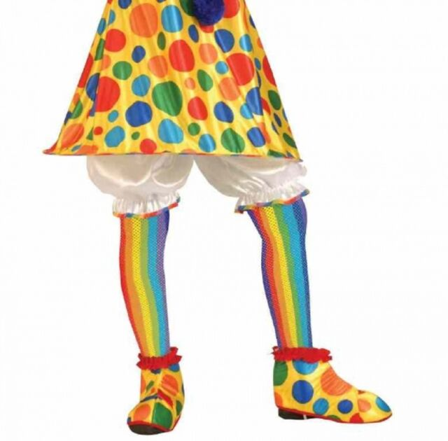 ea627c54c Rainbow Fishnet Stockings Womens Clown Circus Tights Halloween Costume  Accessory