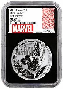 2018-Tuvalu-Black-Panther-1-oz-Silver-Marvel-Series-1-NGC-MS70-FR-Blk-SKU52248