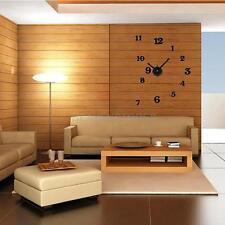 Large DIY Wall Sticker Clock 3D Home Decorative Mural Silent Art Hours Watches