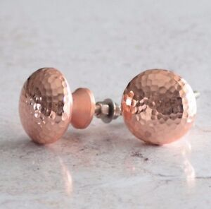 Image Is Loading COPPER ROSE GOLD HAMMERED CUPBOARD CABINET KNOBS ATC