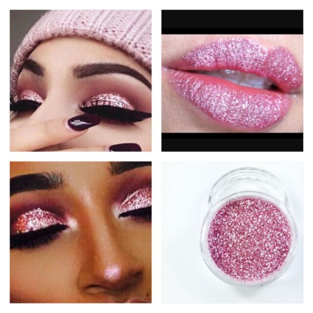 Crystal Rose Pink Glitter Dust Body Nail Art Party Shimmer Makeup ...