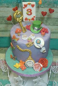 Miraculous Alice In Wonderland Mad Hatter Tea Party Edible Handmade Funny Birthday Cards Online Alyptdamsfinfo