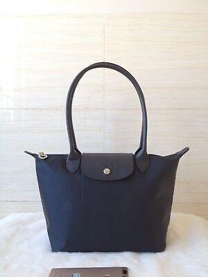 Faulty Longchamp Le Pliage Neo Small Tote Bag Graphite | eBay