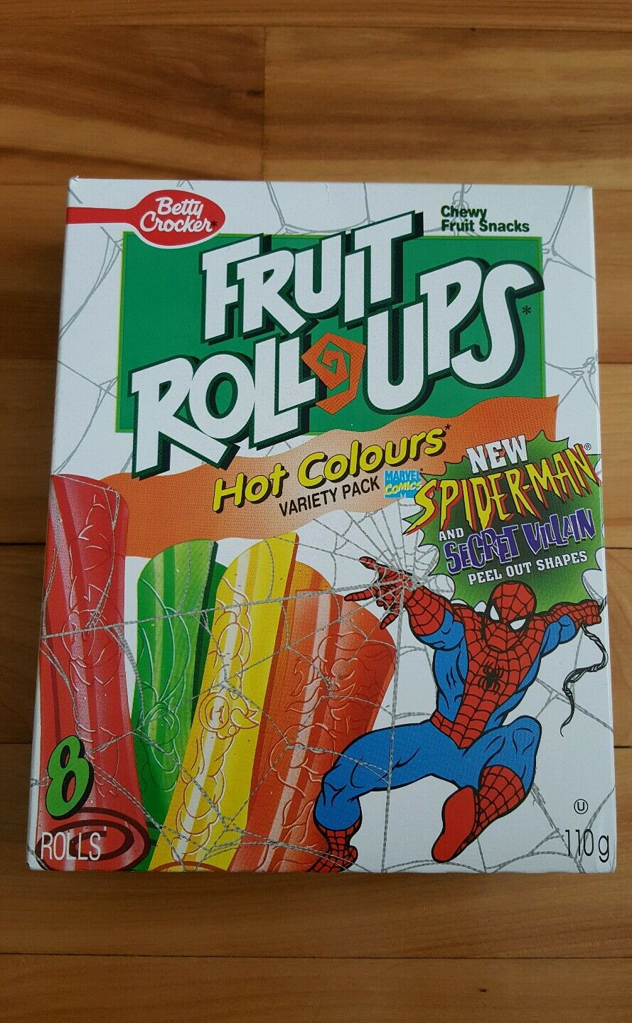 Spiderman fruit roll ups 1995 ( canadian )