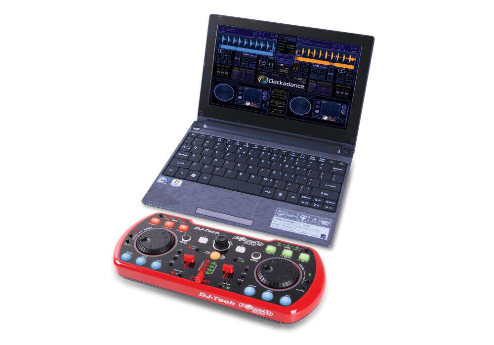 DJ Tech - PocketDJduo - USB DJ MIDI Controller mit integrierter Soundcard