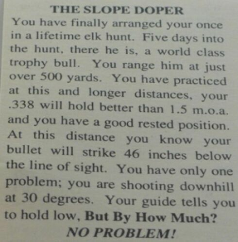 Target Shooting Hunting Works For All Rifles Slope Doper