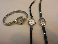 Hamilton watch ladies  CAL 750/757/721 for Parts/Repair lot of 3 watches