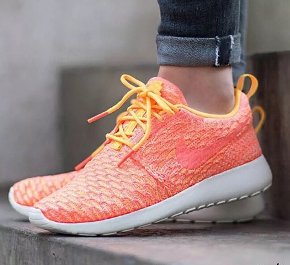 WMNS NIKE ROSHE ONE FLYKNIT Running Trainers Schuhes Gym Fashion- UK 6.5 (EU 40.5)