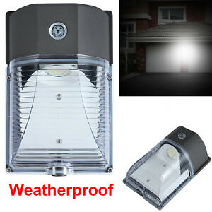 Outdoor-LED-Wall-Mount-Yard-Security-Light-26W-Lighting-Dusk-to-Dawn-Photocell