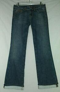 MISS-ME-30-Denim-Low-Rise-Distressed-Boot-Cut-Cuffed-Jeans-JP4502-30X32-Womens