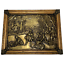 Antique-Brass-Pictorial-Scene-Medieval-Mythology-Framed-Wall-Plaque-Sculpture thumbnail 1