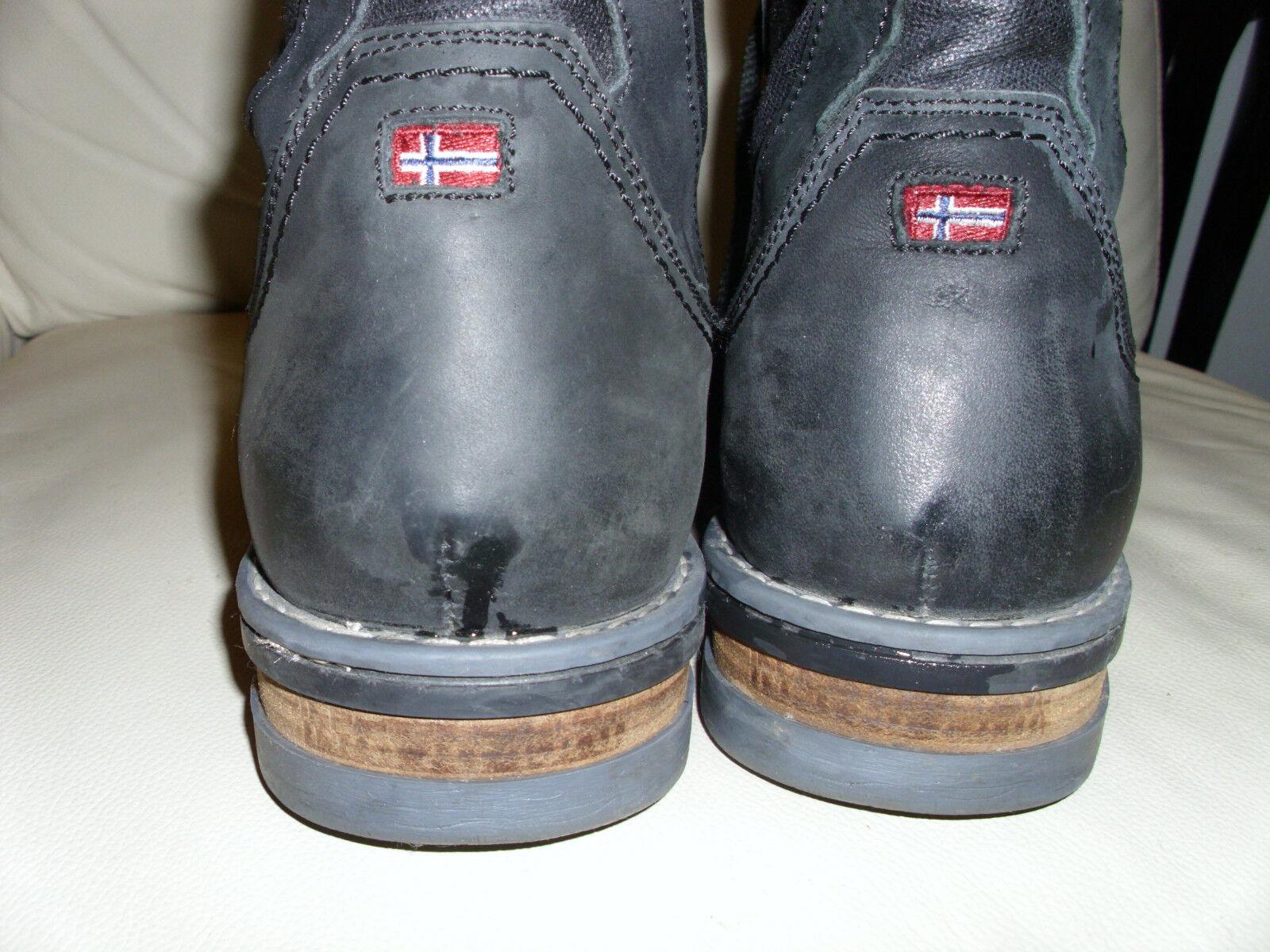 Napapijri NAPAPIJRI Stiefel Boots Gr.45 Leder Schwarz Flagge Flagge Flagge NP  Trendmarke 6bec91